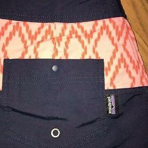 Patagonia Navy Pink nylon Active Baggies skirt 8